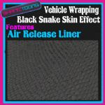 2M X 1520mm CAR INTERIOR EXTERIOR DASHBOARD WRAP BLACK SNAKE EFFECT AIR RELEASE